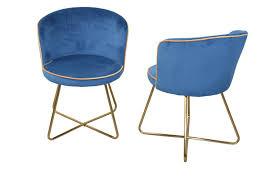 2x polsterstühle blau gold samtbezug esszimmerstühle stuhlset modern design
