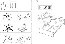Ikea Hopen Bed by Handleiding Ikea Hopen Bedframe Pagina 1 Van 8 Dansk Deutsch