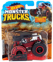 100 Monster Truck Crashes Amazoncom HW 2019 S Bone Shaker Connect And Crash Car