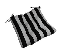 Patio Seat Cushions Amazon by Com Indoor Outdoor Black And White Stripe Universal Tufted Seat