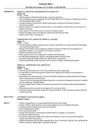 Medical Administrative Assistant Resume Samples Velvet Jobs Sample As Image File Executive Example Cv Examples