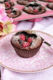 brownie muffins mit himbeeren