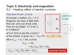 Topic 5 Electricity And Magnetism