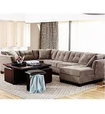 elliot fabric microfiber 3 piece chaise sectional sofa created