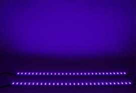 2x Ultraviolet UV 12V Black Light LED Strip Bar Tube 5050 SMD