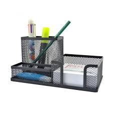 rangement stylo bureau biencome organisateur bureau pot à stylo compartiments en fer boîte