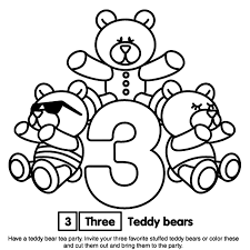 Number 3 Coloring Page