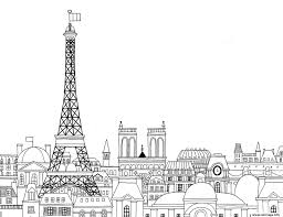 Coloriage Paris Ville De France Paysage Dessin