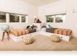 Corner Twin Bed Set Astonishing Modern Home Decoration Side