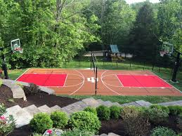 Choosing Colors For Your Backyard Court Or Home Gym | Sport Court Multisport Backyard Court System Synlawn Photo Gallery Basketball Surfaces Las Vegas Nv Bench At Base Of Court Outside Transformation In The Name Sketball How To Make A Diy Triyaecom Asphalt In Various Design Home Southern California Dimeions Design And Ideas House Bar And Grill College Park Half With Hill