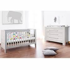 chambre bébé lit commode chambre lit à barreaux et commode gris cendré somnio lestendances fr