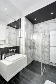 klassisches bad in schwarz grau und bild kaufen