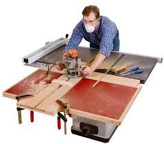 Sawstop Cabinet Saw Used by Build A Folding Outfeed Table To Mount On Your Table Saw Stand