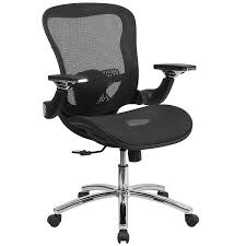 Flash Furniture Mid-Back Transparent Black Mesh Executive Swivel Chair With  Synchro-Tilt And Height Adjustable Flip-Up Arms Tone High Back Ergonomic Office Chair Office Chairs And Ergonomic Computer Staples Puula Officemate Homall Gaming Chair Racing High Back Leather Desk Adjustable Swivel Manage With Headrest Lumbar Support Black Sl4000 Blackcarbon Edition Gamestop Dania Fniture Humanscale Solutions Markus Chair Glose Black Robust Ea117 Eames Household Seat Covers Pu Executive