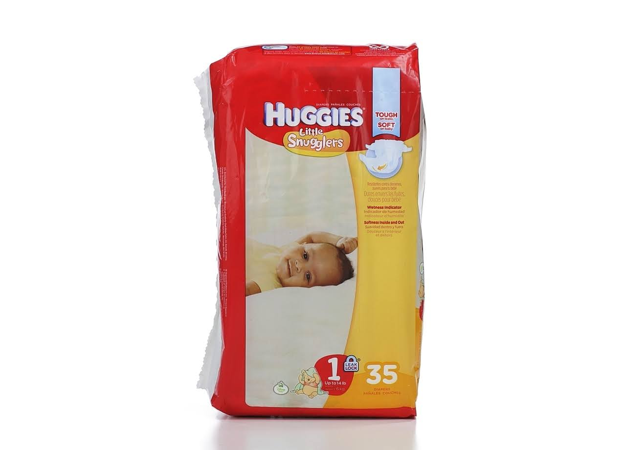 Huggies Little Snugglers Diapers - Size 1, 35ct