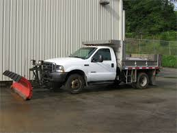 2003 Ford F550 Dump Truck W/plow & Tailgate Spreader For Auction ...