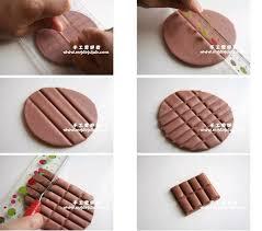 créer un tablette de chocolat en pâte polymère é 1 arcilla