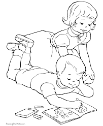 Kid Easter Colouring In Page