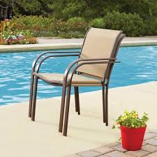 Stackable Outdoor Sling Chairs by Mainstays Stacking Chair Dune Walmart Com