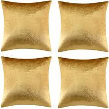 gigizaza gold kissenbezug 50x50 cm samt kissenbezüge 4er pack kissenhülle dekokissen für sofa wohnzimmer schlafzimmer