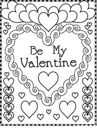 Shining Ideas Valentine Color Pages Printable Coloring