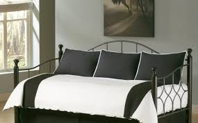 daybed Black Metal Daybed Bedding Set With White Stripes Black
