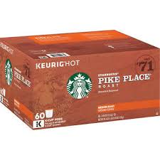 Starbucks Pike Place Coffee Medium 60 K Cup Pods