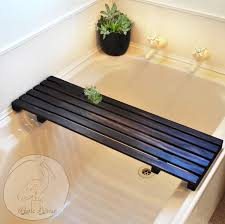 bathtubs cozy wood bathtub caddy with reading rack 6 full image