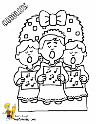 Coloring Pages Kids Christmas Carolers At YesColoring