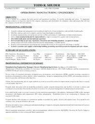Sample Resume Manufacturing Technician General