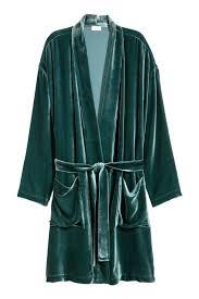 robe de chambre velours robe de chambre en velours vert foncé h m fr