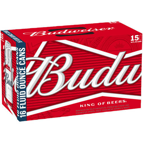 Budweiser Beer - 15 Cans