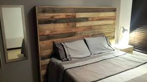 Pallet Wood Headboard Handcrafted Ideas Recycled