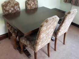 Vintage Oak Extendable Dining Table Six Chairs In Dewsbury