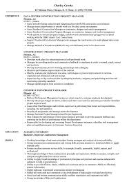 Construction Project Manager Resume Samples | Velvet Jobs Ten Things You Should Do In Manager Resume Invoice Form Program Objective Examples Project John Thewhyfactorco Sample Objectives Supervisor New It Sports Management Resume Objective Examples Komanmouldingsco Samples Cstruction Beautiful Floatingcityorg Management Cv Uk Assignment Format Audit Free The Steps Need For Putting Information Healthcare Career Tips For Project Manager