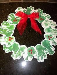 Super Cute Handprint Wreath Craft For Kids Christmas