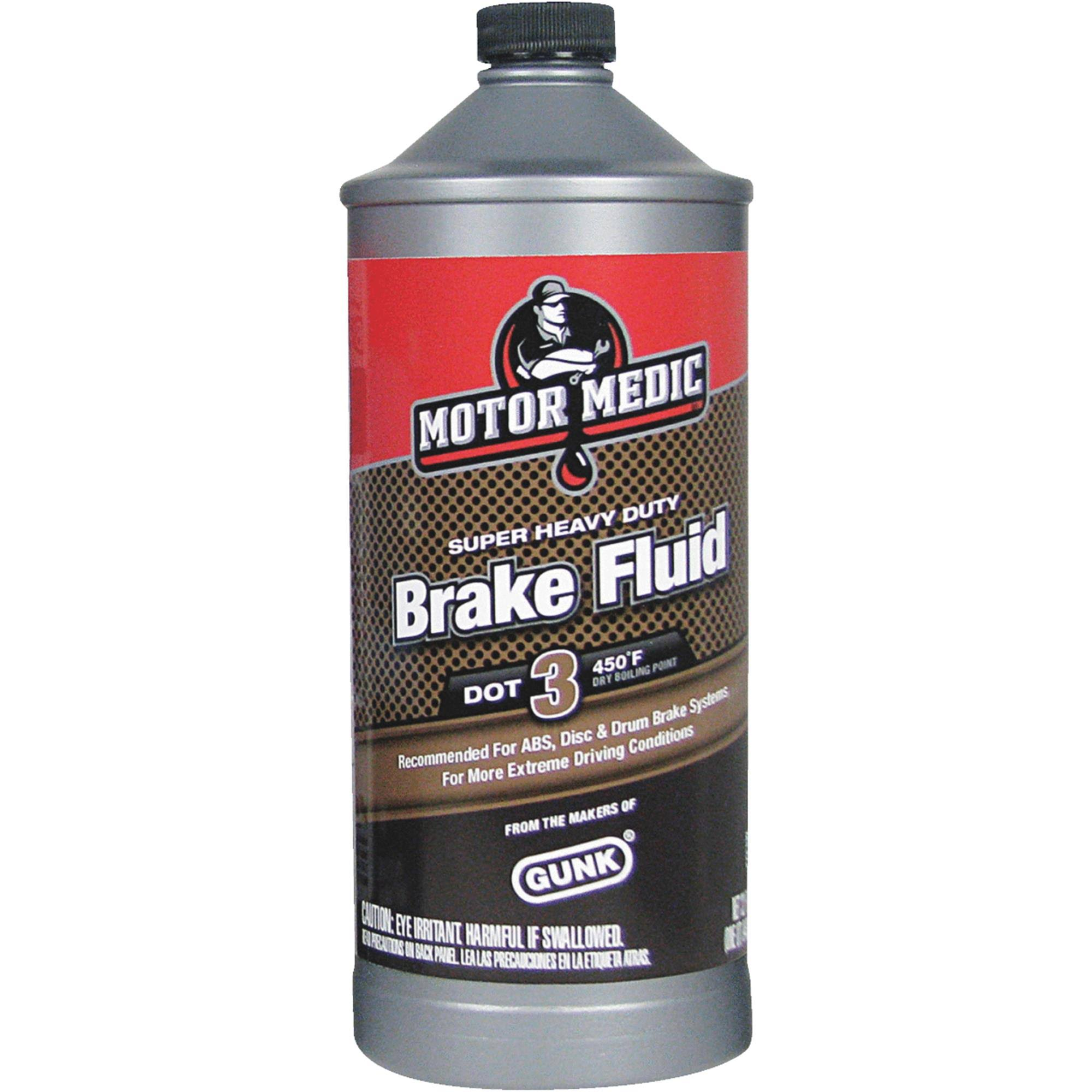 Gunk Super Heavy Duty Brake Fluid - Dot 3, 32oz