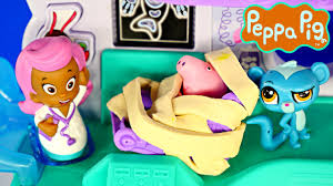 Caillou In The Bathtub Ytp by Peppa Pig Doctor Visit At Bubble Guppies Hospital Episode Play Doh