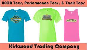 custom neon t shirts kirkwood trading company