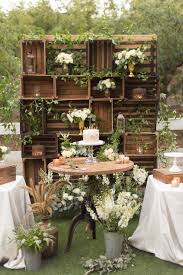 Stunning Outdoor Wedding With Luxurious Scrap Inspired Decor Vintage BackdropOutdoor