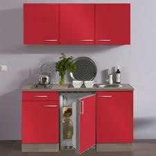 miniküche inone essen dekor seidenglanz rot korpus eiche trüffel sägerau