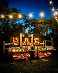 I Love This Idea For A Bar Marquee Lights And Patio Lighting Plus More Great Outdoor Ideas