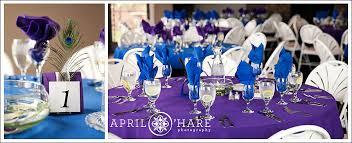 Purple And Blue Wedding Table Decor A PeacockPurple