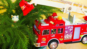 Fire Truck Rescues A Kitten Stuck On A Tree, Monster School Bus ... Amazoncom Hallmark Keepsake 2017 Fire Brigade 1979 Ford F700 Personalized Truck On Badge Ornament Occupations Lightup Led Engine Free Customization Youtube 237 Best Christmas Tree Ideas Images On Pinterest Merry Fireman Hat Ornament Refighter Truck Aquarium Decoration 94x35x43 Kids Dumptruck 1929 Chevrolet Collectors 2014 1971 Gmc Home Old World Glass Blown