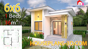 100 Home Photos Design House Plans 6x6 With One Bedrooms Flat Roof