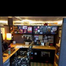 Cute Ways To Decorate Cubicle by Decor Office Desk With L Shape And Divider In White And Black