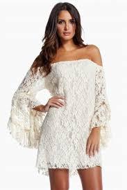 dress boho lace wedding clothes beach honeymoon simple short bell