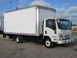2017 Used Isuzu NPR HD (18ft Box Truck With Lift Gate) At Industrial ...