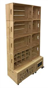 S Rustic Wooden Retail Display Shelves Wood Magazine Book Unit