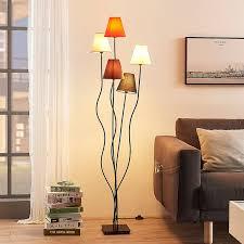 melis 5 flammige stoff stehle fürs wohnzimmer